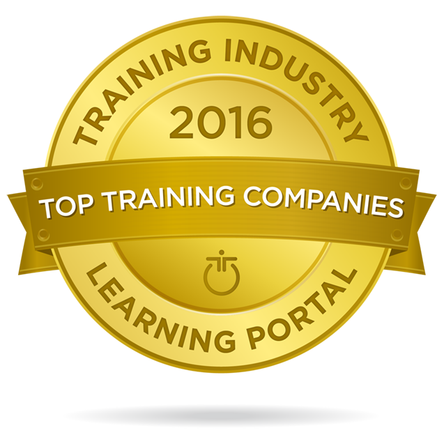 BizLibrary 2016 Top 20 Learning Portal Company Badge