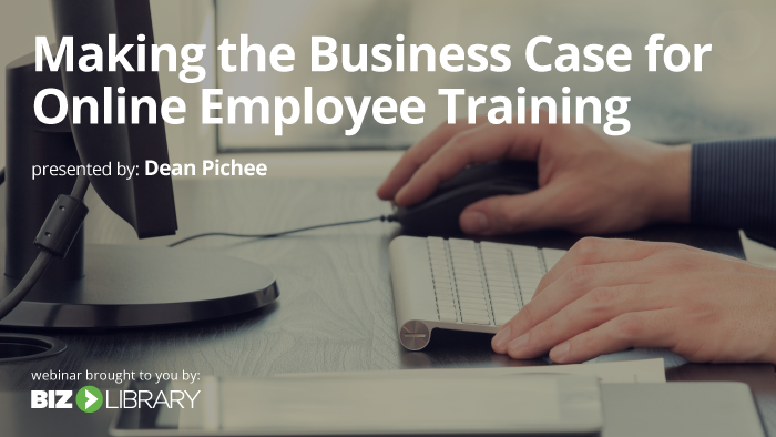 Making the Case for Online Training webinar cover
