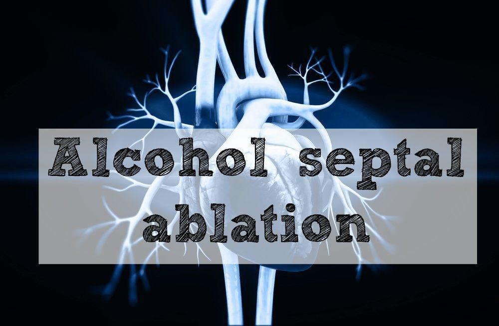 Alcohol septal ablation