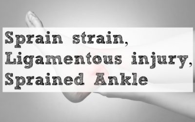 Sprain strain, Ligamentous injury, Sprained Ankle