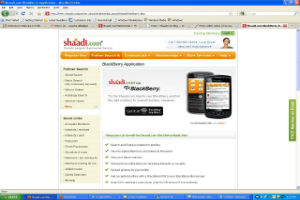 Shaadi.com now available on BlackBerry