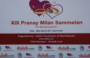 Shaadi.com & Delhi Foundation of Deaf Women Host the 19th Pranay Milan Sammelan
