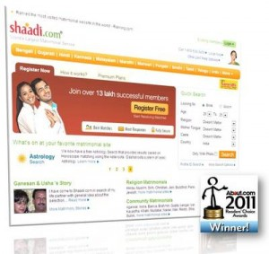 Shaadi.com Voted The Best Matrimonial Website