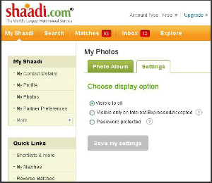 Privacy Options is Now Free for Shaadi.com Members