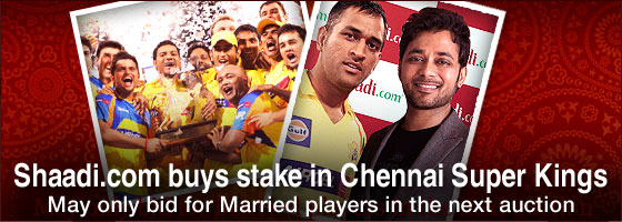 Shaadi.com buys stake in Chennai Super Kings