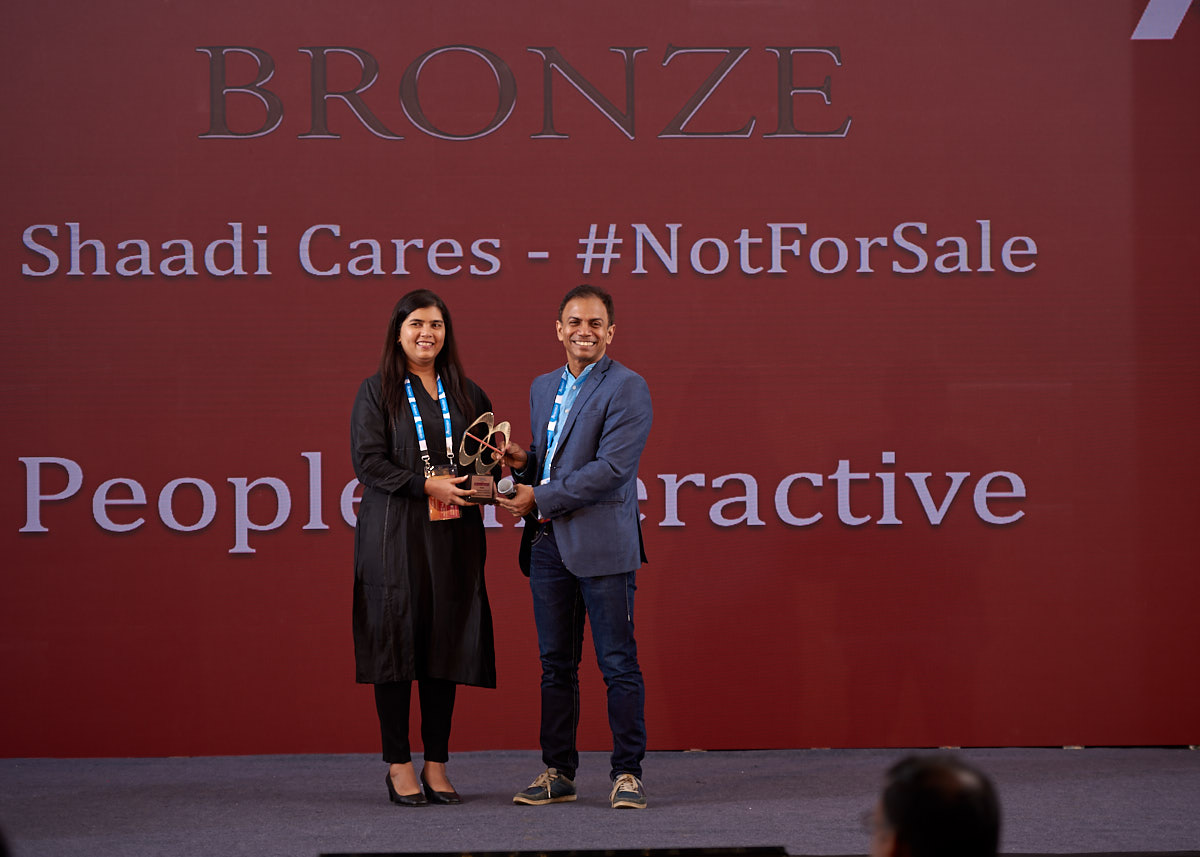 #NotForSale campaign wins Bronze Trophy at Indian Digital Awards