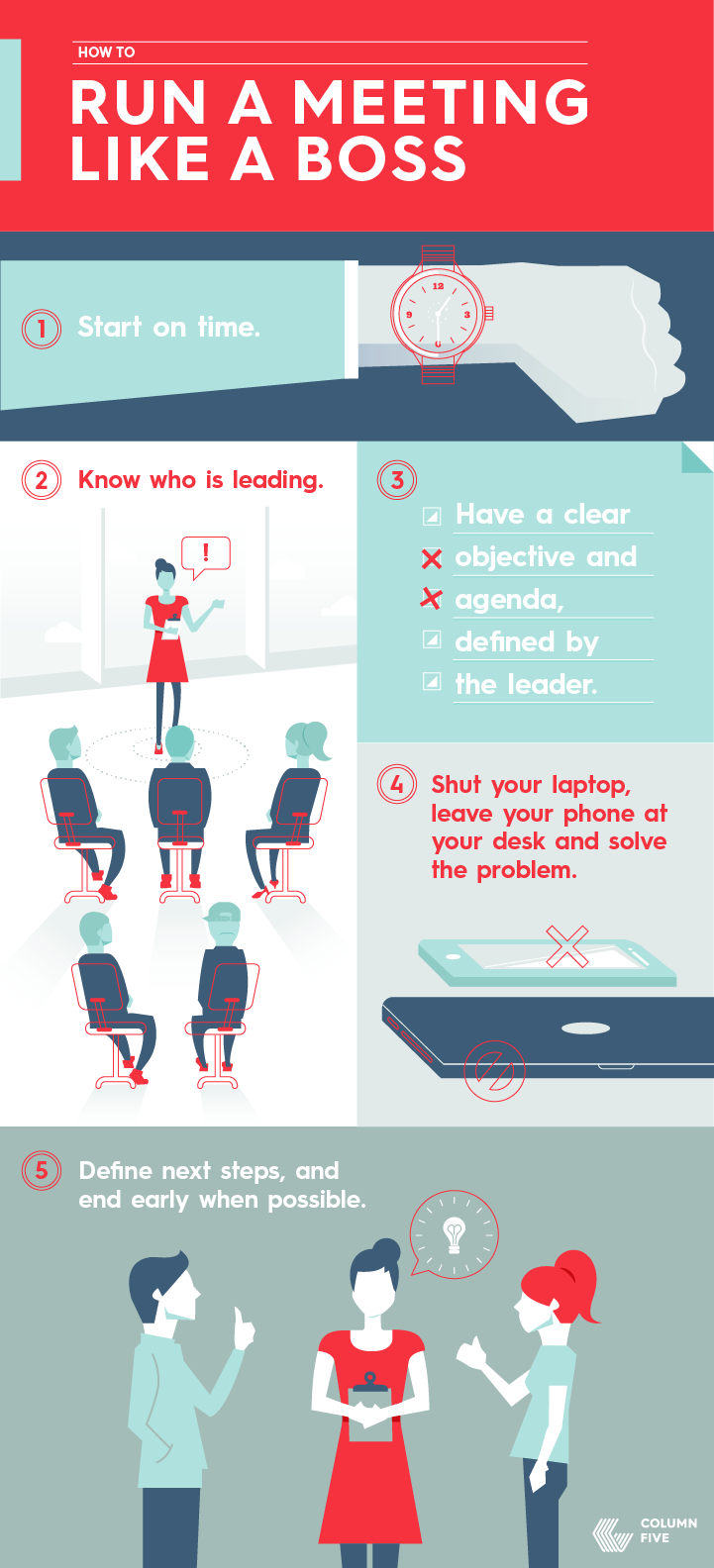 How to run a meeting like a boss infographic