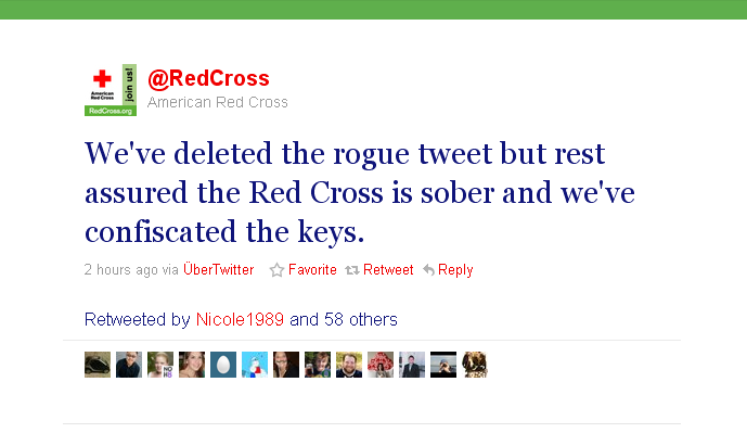 Red cross tweet