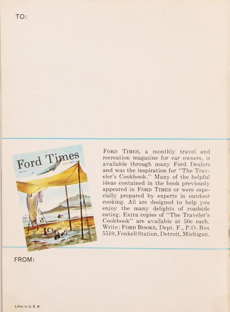 Traveler's Cookbook: 7