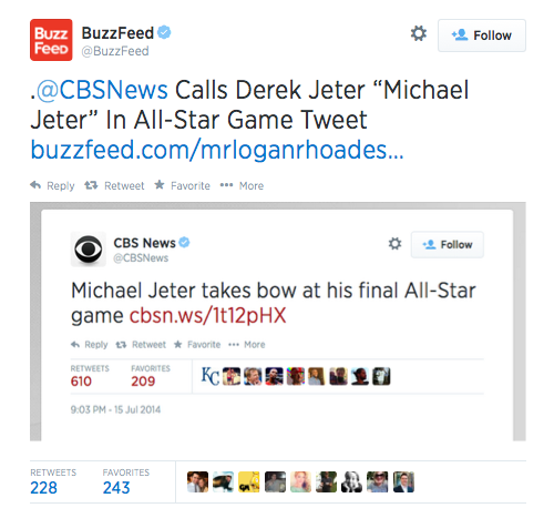 Buzzfeed Retweet