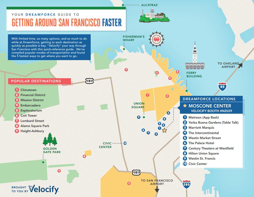Your Dreamforce Guide for Getting Around San Francisco Faster (Infographic)