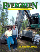 Cover of Fall 2001 Issue of Evergreen Magazine