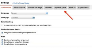 export google reader file