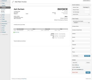 invoice wordpress plugin