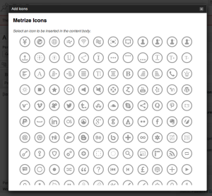 metrize icons wordpress plugin