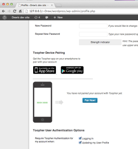 toopher two factor authenticator
