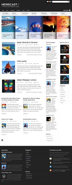 tema blog magazine noticias