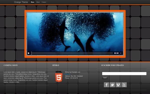 Orange Theme Free Download