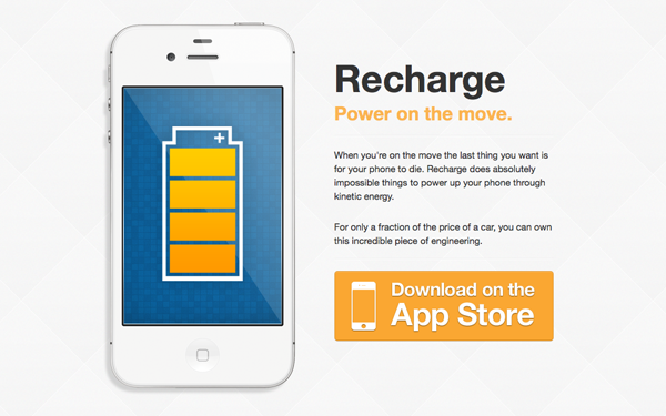 Recharge – White iPhone Theme Free Download