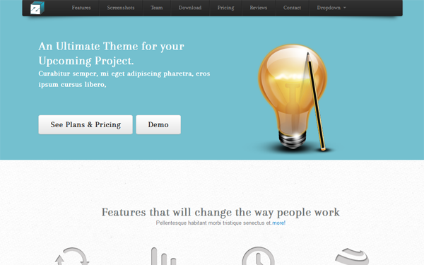 ZBox One Page Site Free Download