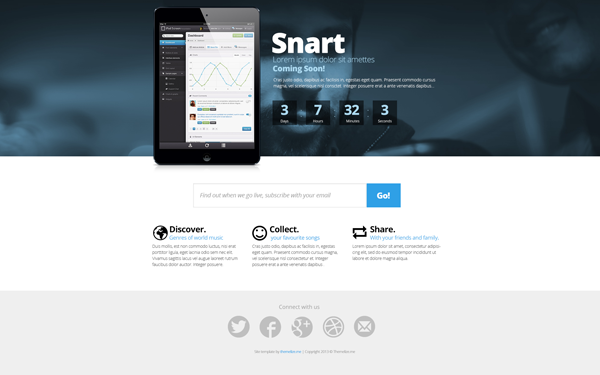 Snart – Coming Soon Templates Free Download