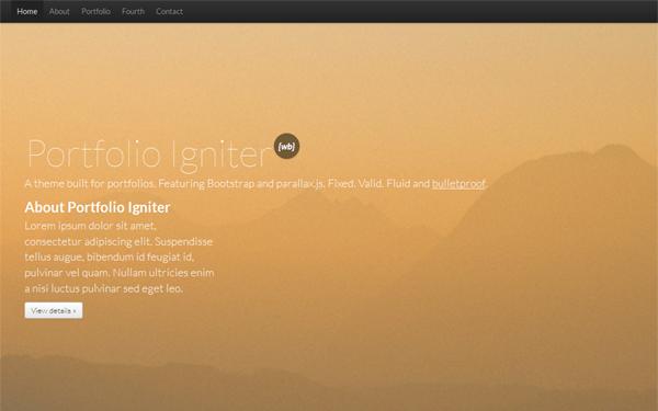 Portfolio Igniter – Portfolio Theme Free Download