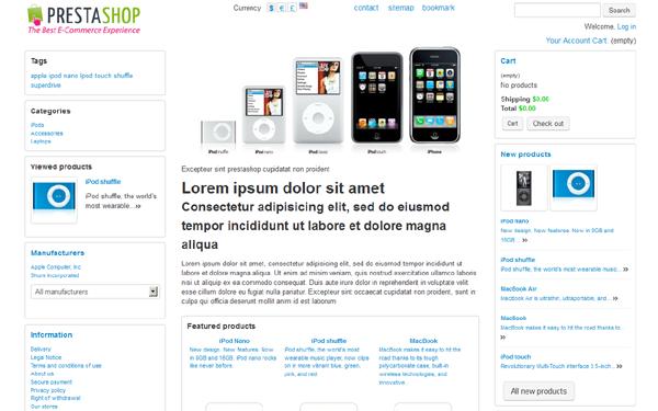 PrestaShop Bootstrap Bare-bones Theme Free Download