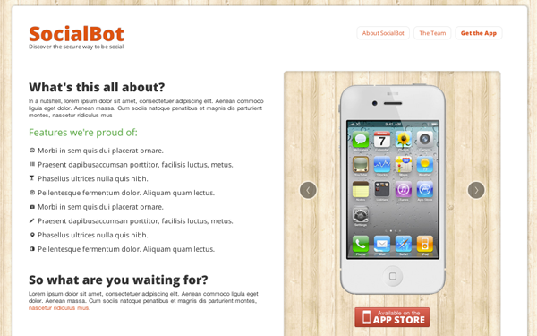 SocialBot – App or Startup Landing Page Free Download