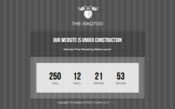 Waqtoo – Under Construction Page Free Download