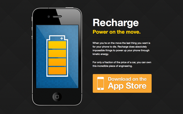 Recharge – Black iPhone Theme Free Download
