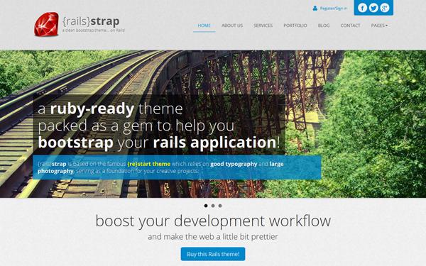 RAILS Strap – Ruby Ready Theme Free Download