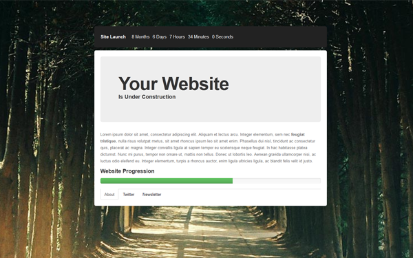 Responsive Under Construction Page Free Download