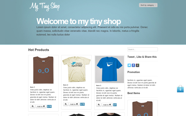 My Tiny Shop – E-Commerce Theme Free Download