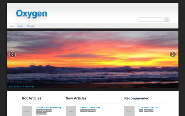 Oxygen – Content Template Free Download
