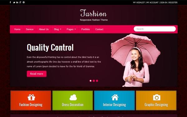 Responsive Bootstrap Fashion Theme Free Download