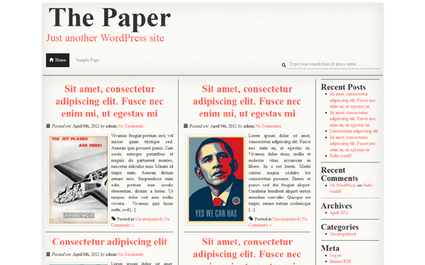 The Paper – WordPress Theme Free Download