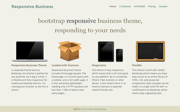 Responsive Business Free Download