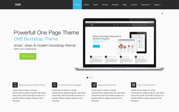 ONE Bootstrap Theme Free Download