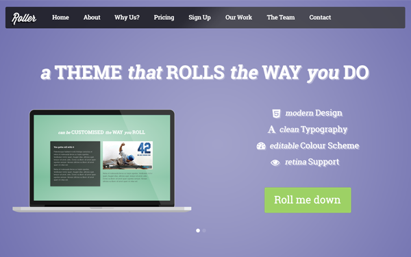Roller – Landing & Multi-Page Theme Free Download