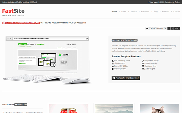 simple bootstrap template