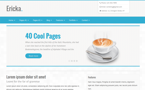 40 Pages – 6 Colors – Responsive Theme Free Download
