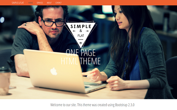Simple & Flat – One Page Theme Free Download