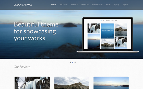 Clean canvas business theme selling for 1200 clean canvas business theme accmission Image collections