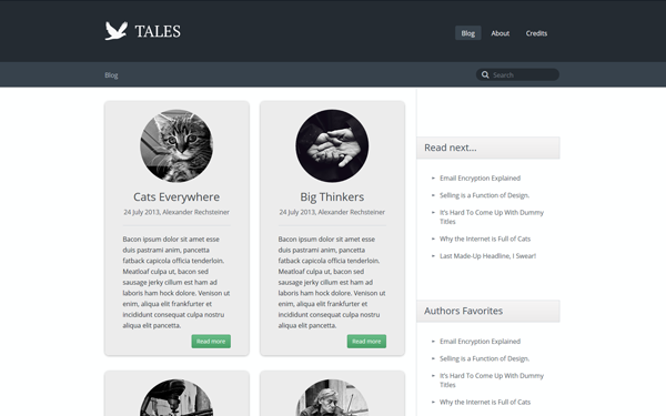 Tales – Responsive Blog Theme Free Download