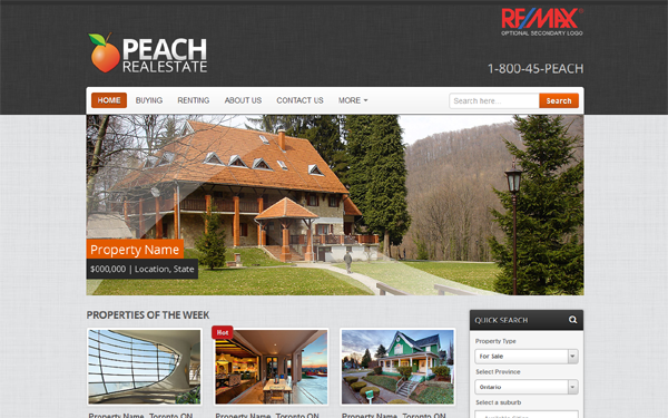 Peach Realestate Free Download