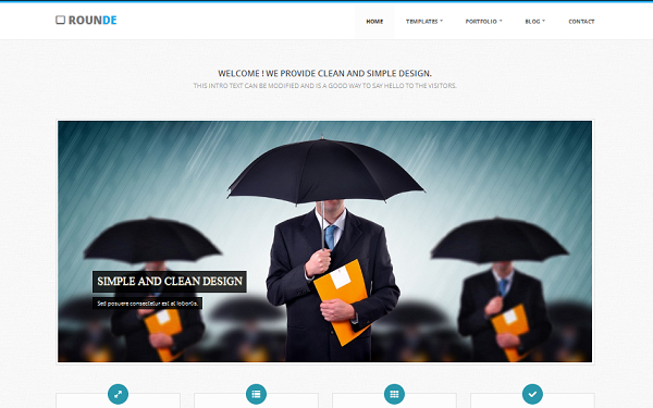 Rounde – Fully Responsive HTML5 Theme Free Download