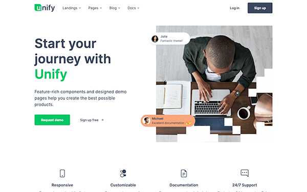 Unify – Responsive Website Template Free Download