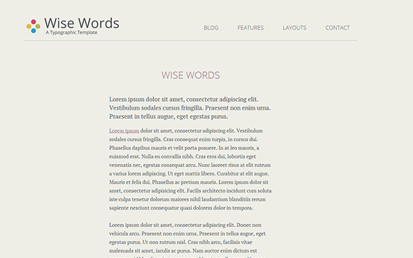 Wise Words – Responsive HTML5 Template Free Download
