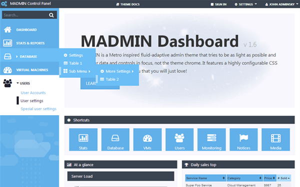 MADMIN - Admin Theme: buy it for $20.00 now on free soap template, free social template, free wordpress template, free test template, free photoshop template, free education template, free photography template, free joomla template, free windows template, free skeleton template, free design template, free search template, free leaflet template, free form template, free cloud template, free mobile template, free database template, free html template, free spring template, free grid template,