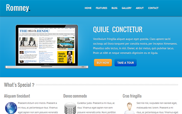 Romney – Responsive Business Theme Free Download